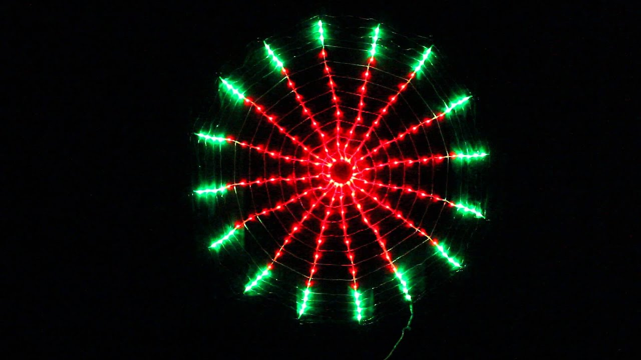 192 LED Red Green Circle Net Christmas Lights with Clock Dial ...