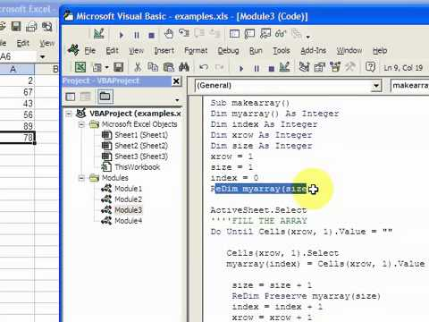 Microsoft visual basic object tutor excel