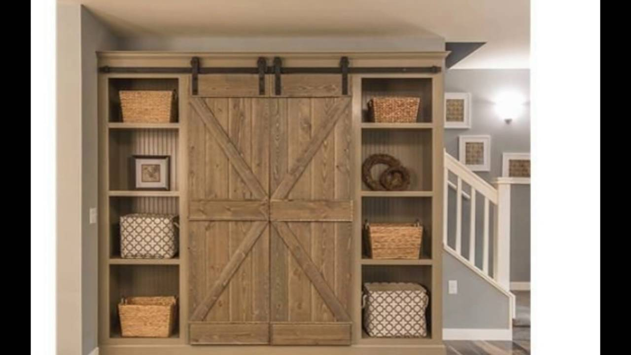 closet barn doors - YouTube