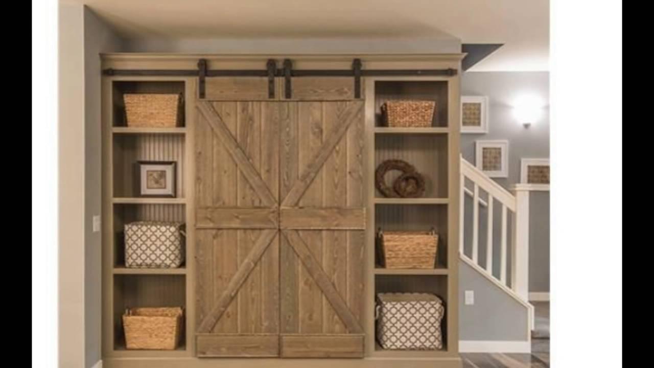 closet barn doors - YouTube