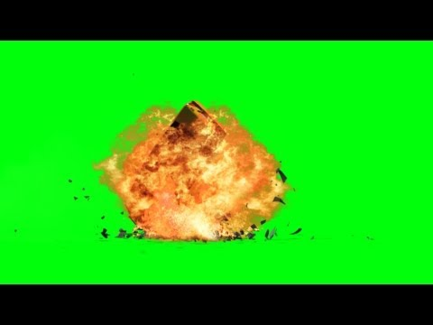 Car Bomb Explosion with sound - green screen effects