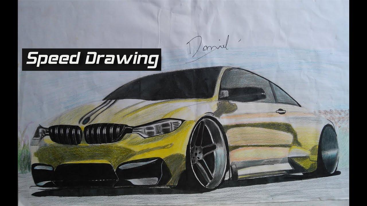 Desenho Rapido Bmw M4 Parte 3 Daniel Drawing The Bmw M4 Part 3