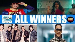 Latin American Music Awards 2018 - ALL WINNERS   LAMA's 2018   October 25, 2018   ChartExpress