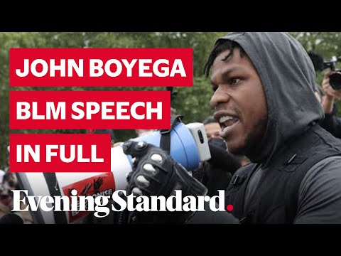 John Boyega George Floyd protest London speech in full: Star Wars actor's powerful Hyde Park message