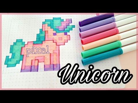 How To Draw Pixel Unicorn Einhorn Malen Crayola Foxy
