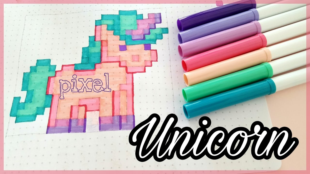 How To Draw Pixel Unicorn Einhorn Malen Crayola Foxy Draws
