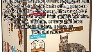 NUTRO PERFECT PORTIONS Grain Free Natural Adult Wet Cat Food Cuts in Gravy Real Beef, Real Tuna, an