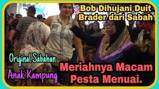 SENTUHAN//Orang Sabah menari sambil lambung duit byk..Gembira lagu Anak Kampung n Original Sabah..