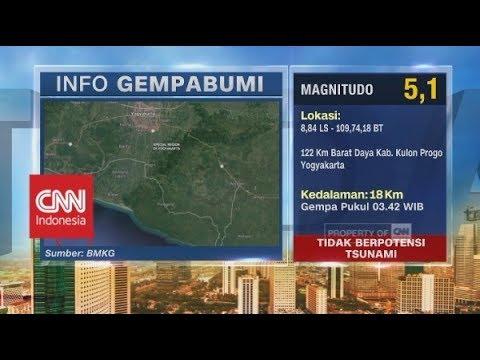 Gempa 5,1 SR Guncang Yogyakarta
