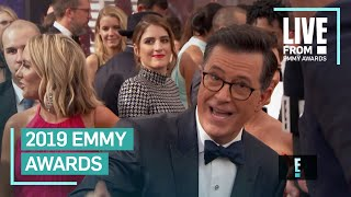 Stephen Colbert Crashes John Oliver39s Interview at 2019 Emmys  E Red Carpet amp Award Shows