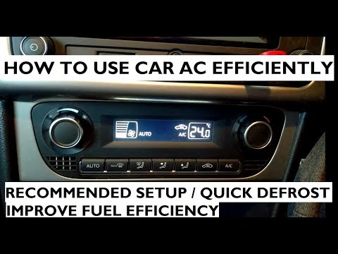 How To Use The Car AC Efficiently - Automatic Climate Control