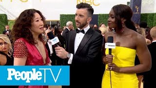 Sandra Oh Gets Emotional Discussing Her Historic Emmy Nomination | Emmys 2018 | PeopleTV