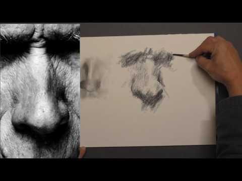 23 - Cours de portrait grands débutants - Episode 23- Exercice 9 - Dessiner le nez - Nez 4 et 5