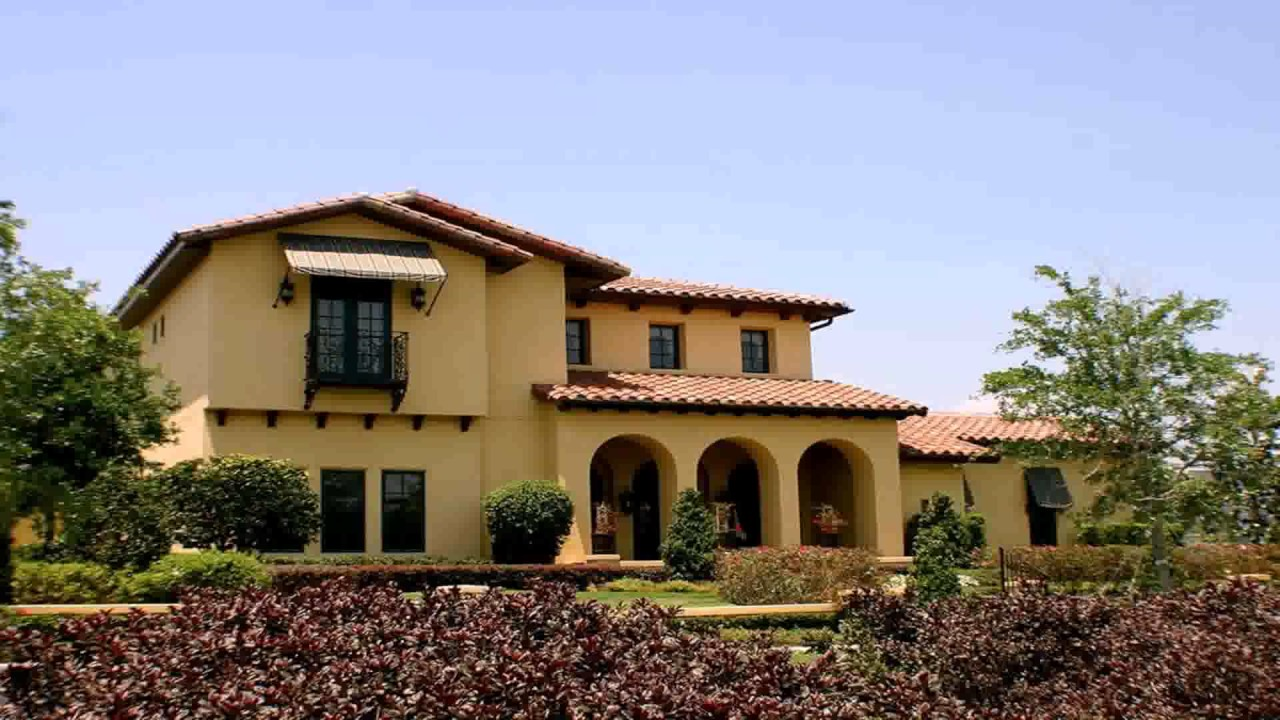 Spanish style house exterior paint colors youtube - Exterior paints for houses pictures style ...