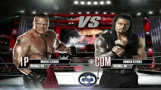 WWE 2K Mobile - Brock Lesnar vs Roman Reigns Gameplay [ HD ]
