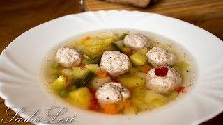 Как приготовить очень вкусный и легкий овощной суп с фрикадельками. Рецепт.