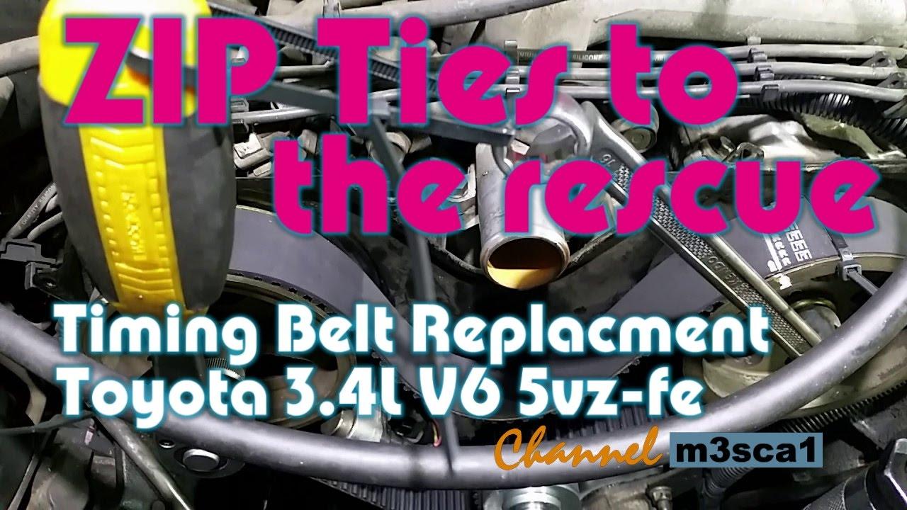 Timing Belt Toyota 34l V6 5vz Fe Youtube 1992 4runner Kit
