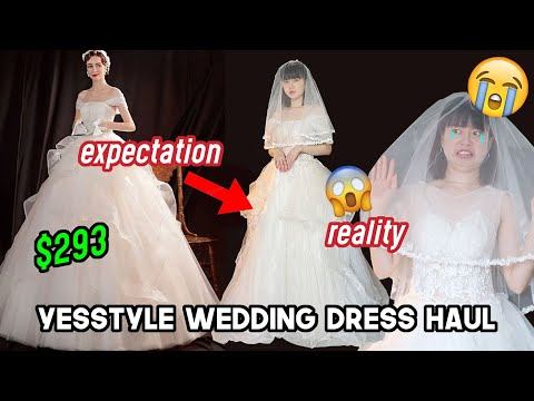 I Tried YESSTYLE Wedding Dresses (and this is what happened..) | Q2HAN