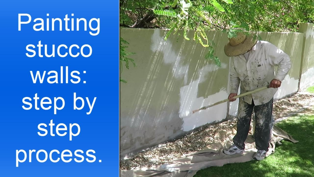 Painting exterior stucco walls step by step. - YouTube