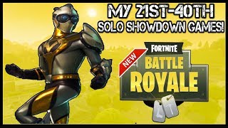 Fortnite: 'Solo Showdown' | MY FIRST 40 GAMES! (Can I Still Win 50,000 V BUCKS?)