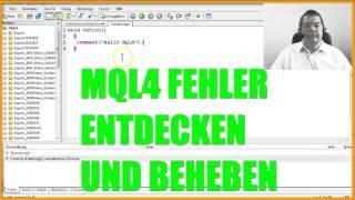 Expert Advisor selbst programmieren SCHRITT 3 EINEN FEHLER BEHEBEN Metatrader4 MQL4 Deutsch