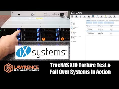 IXsystems TrueNAS X10 Torture Test & Fail Over Systems In Action