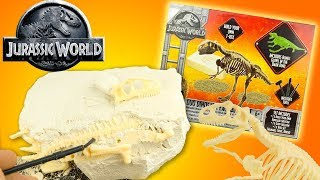 Jurassic World Paleontological Excavation Kit Dinosaur T-Rex toy review youtube kids