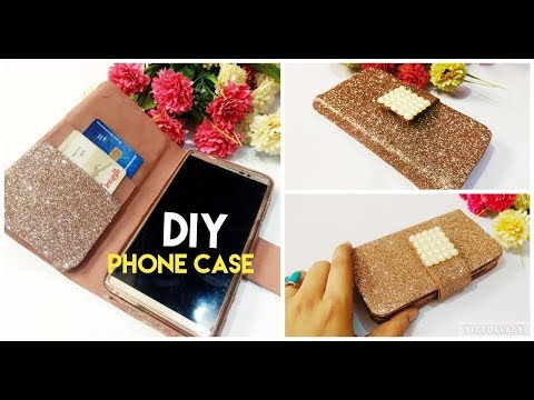 HOW TO MAKE Easy PHONE CASE/COVER | PHONE WALLET Using Cardboard