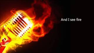 Ed Sheeran - I See Fire (Acoustic backing track w/lyrics) Karaoke