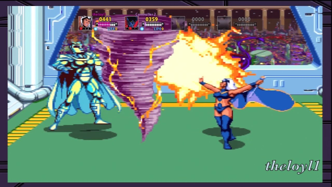 x men arcade game final boss battle storm nightcrawler vs