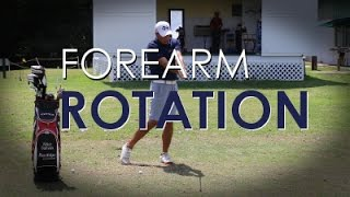 Correct Forearm Rotation and Wrist Cock in Golf Swing