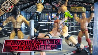 WWE ELIMINATION CHAMBER 2021 ACTION FIGURE MATCH WWE CHAMPIONSHIP