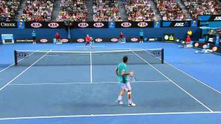 Best Tennis Game Ever ! Australian Open 2012 - Andy Murray vs.  Michael Llodra