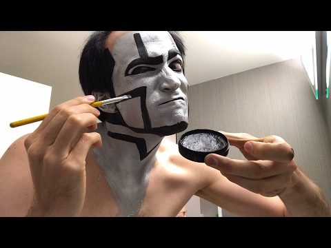 David Michael Bennett Applies Robot Makeup for Concert Tonight in Everett Washington