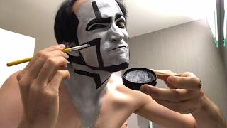 David Michael Bennett Applies Robot Makeup for Concert Tonight in Everett Washington