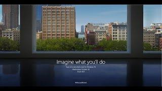 Microsoft Live Event | New York | 26 Oct 2016