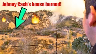 Thomas Fire, Santa Paula **Johnny Cash's house on fire**