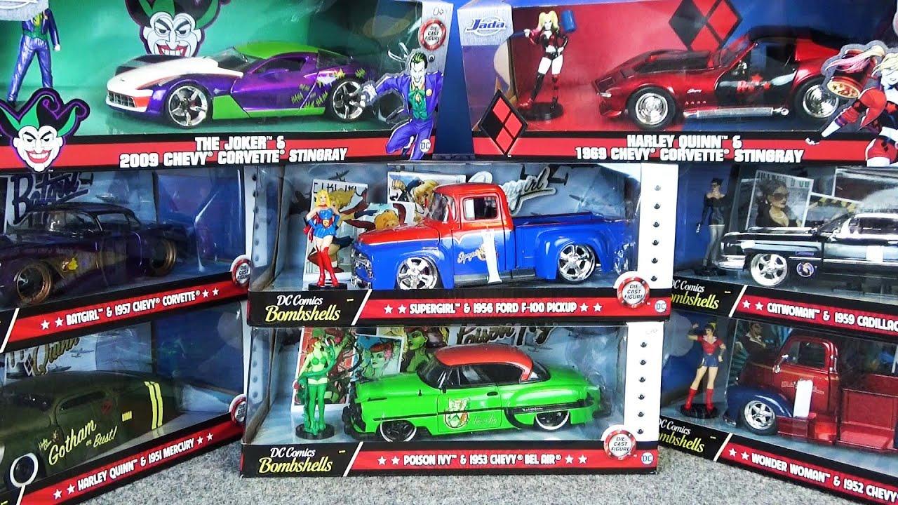 DCコミックスのかっこいい車が大集合!ハーレイクインやスーパーガールなど