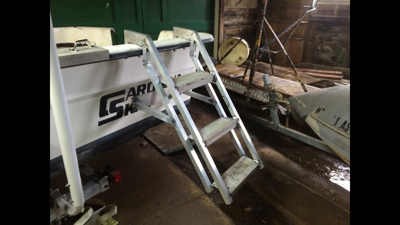 Homemade Dog People Ladder For Carolina Skiff For Duck