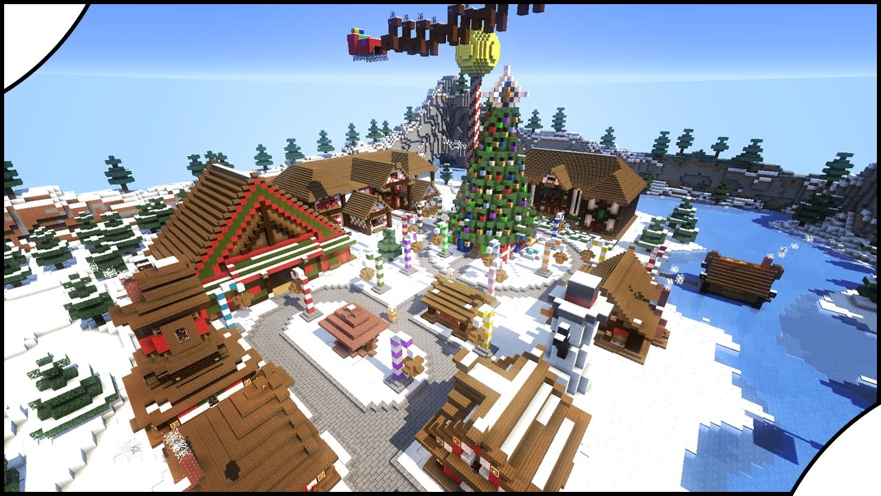 Minecraft Christmas Houses.How To Minecraft Build A Beautiful Christmas Village