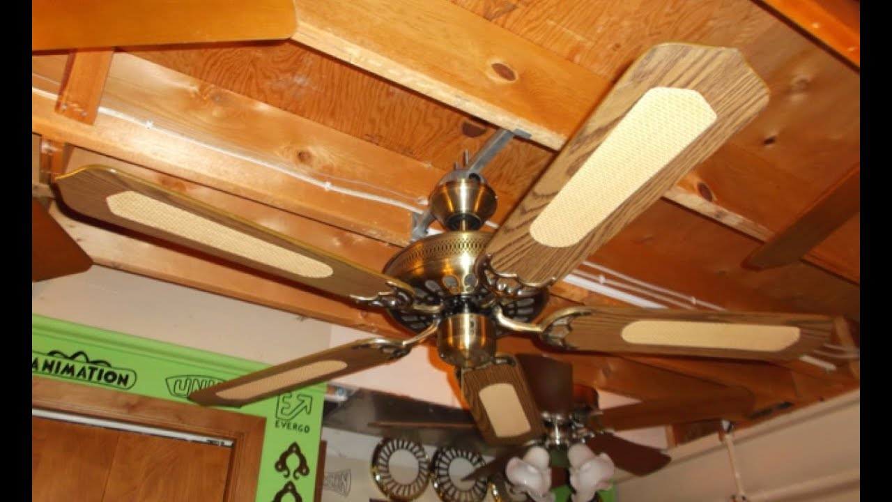 Air Cool Footprint Vent Ceiling Fan HD Remake  YouTube