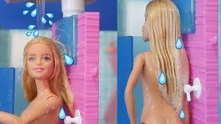 Barbie Gerçek Su Akan Duşta Banyo Keyfi Yapıyor Barbie Karpuz Slime 4 DIY Barbie Bidünya Oyuncak