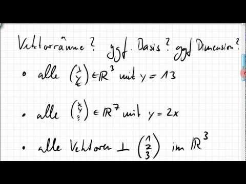 01A.1 Vektorraum, Untervektorraum, Basis, Dimension