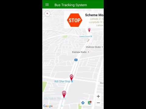 Bus Tracking System Android App (using google maps)
