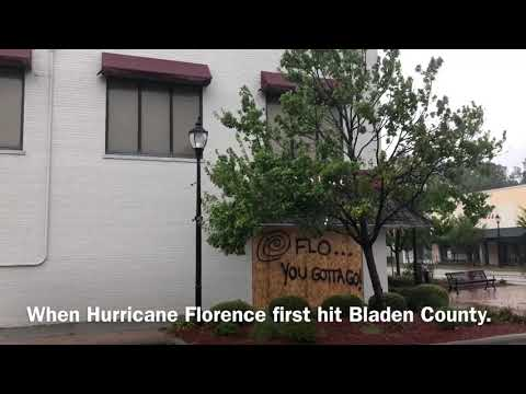 Bladen County, North Carolina devastated by Hurricane Florence