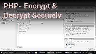 PHP Tutorial |  Encrypt & Decrypt Securely