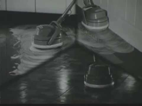 Vintage Old 1950u0027s SC Johnson Johnsonu0027s Floor Wax Polisher Scrubber  Commercial