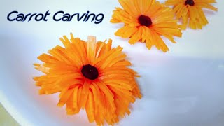New vegetable carving beautiful flowers (carrot)