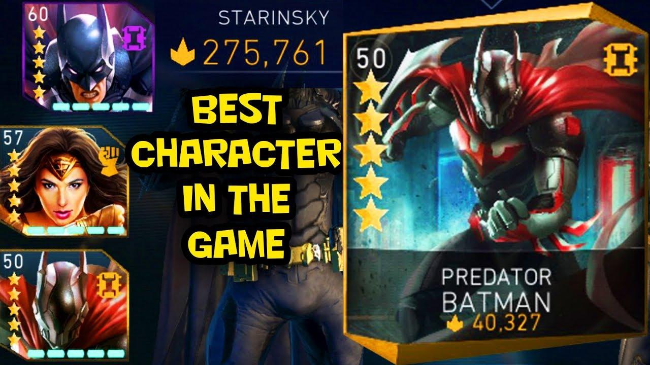 Injustice 2 Mobile 5 Stars Predator Batman And My Highest Threat Team Best Team Ever Youtube