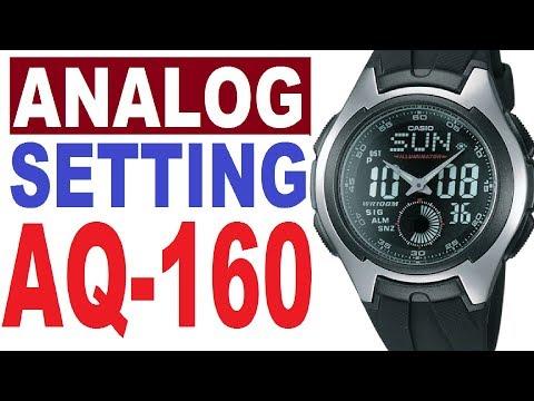 Casio AQ-160 Manual 3319 Module For Set Analog Time
